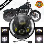 7 Inch Led Headlight Drl Turn Signal Angel Eyes For Harley Touring Motorcycle