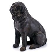 Vintage Cast Iron Antique Kyser And Rex Pug Dog Seated Coin Bank 1889