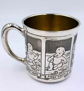 Antique Baby Cup R. Blackinton And Co. Sterling Silver First Step