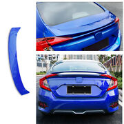 Blue Mc Style Rear Boot Spoiler Wing Flap Fit For Honda Civic 10th 2016-19 2020