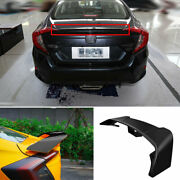 Abs Black Rear Aircraft Boot Spoiler Wing Flap 1x For Honda Civic 10th 2016-2020