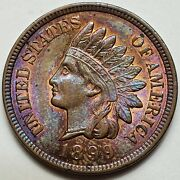 U.s. 1899 Indian Head Penny / Cent - 1c -ch/bu Monster Toning