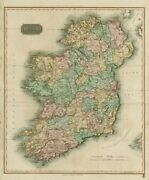 Ireland By John Thomson. Coach Roads 1817 Old Antique Vintage Map Plan Chart
