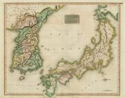 Corea And Japan By John Thomson. East Asia. Korea 1817 Old Antique Map Chart