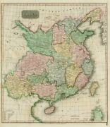 China Showing Route Of George Macartney's Embassy In 1793. Thomson 1817 Map