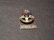 Vintage 1937 Masonic Pin 50 Years California Gold Color Oes