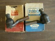 Nos Oem Ford 1962 1963 1964 Galaxie 500 Power + Man. Steering Outer Tie Rod Ends