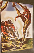 """1934 Stanford V Washington Football Program- With """"wrap-a-round"""" Cover"""