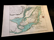 1760 Colored Map Of Montreal - Canada, Islands Of Jesus, Laval, Bizard, Perrot