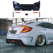 Unpainted Fit For Honda Civic Ms 2016-2020 Rear Skid Plate Bumper Board Guard