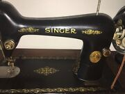 Antique Pedal Singer Sewing Machine With Cabinet And Separate Sewing Box