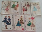 8 Vintage Clothing Sewing Patterns1 Mccalls+7 Simplicity Girls From 1950's-60's