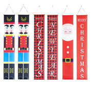 Merry Christmas Nutcracker Banners New Year Outdoor Indoor Decoration Porch Sign