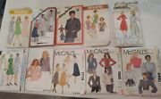 10 Vintage Women Clothing Sewing Patterns Simplicity+mccalls+butterick 70's+80s