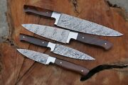 Damascus Hand-made Steak Knife Set   Barbecue   Paring Knife   Chef's Knife