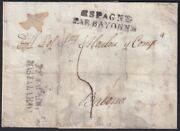 F-ex19132 France 1822 Desinfected Mail To Spain 2 Cut + Immeration In Vinegar.
