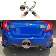 Red Ray Rear Exhaust Muffler Tip Tail Pipe Steel Fit For Honda Civic 16-20 1.5t