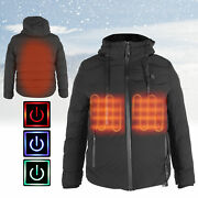 Heated Jacket Usb Electric Soft Waterproof Heating Warm Clothe Coat For Winter W