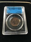 1900 Cccs Graded Canadian Large One Cent Ms-64