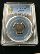 1893 Flat Top 3 Obv5 Pcgs Graded Canadian Andcent10 Cent Au-55