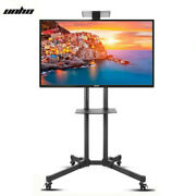 Heavy Duty Rolling Mobile Tv Cart Floor Stand Mount Trolley Unit For 32-70 Lcd