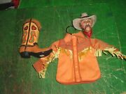 Lot Cowboy Bust / Boot / Shirt Dept 56 And Other Hanging Christmas Tree Ornaments