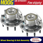 2 Front Wheel Bearing And Hub For 2003-2017 Chevy Express Gmc Savana 2500 3500 2wd