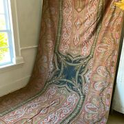 Antique Paisley Shawl 1855 Dated World's Fair Medal Winner In Paris