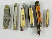 Lot 6 Vintage Folding Pocket Knives New Britain Sabre Imperial Colonial