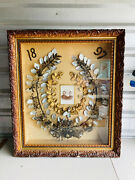 C.1897 Antique Victorian Mourning Hair Wreath Large Museum Quality