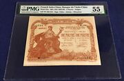 French Indochina 1 Piastre 1901 Pick 34a Pmg55 Rare With Le Directeur