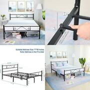 Greenforest Full Size Bed Frame With Headboard Metal Platform Bed Heavy Duty Rei