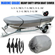 11.5and039-14.8and039 Heavy Duty Open Boat Cover Trailerable Fishing Runabouts Waterproof