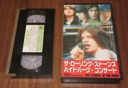 Japan Official Vhs Video Tape The Rolling Stones In The Park More Listed Live