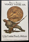 Mint France Patriotic Picture Postcard Gold Fight For Victory Wwi