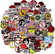 100 Pack Funny Hard Hat Stickers Construction Electrician Helmet Tool Box Decals