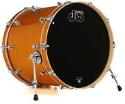 Dw Performance Series Bass Drum - 18 X 22 Gold Sparkle Finishply