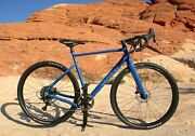 W.a.r Evader Gs Blue And Gloss Gray Gravel Bike New With Carbon Forks