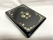 Antique Rare Mother-of-pearl Raden Ink Stone Box Letter Case Todaiji Japan Nara