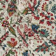 Rare Collectors Quilt Indienne Fichu 18th Century Pique Boutis Printed Jouy
