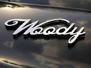 Woody Car Emblem Metal Badge High Quality Fits Chev Ford Willys Wood Panel