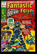 Fantastic Four 1961 113 Fn/vf 7.0 1st Overmind John Buscema Cover And Art