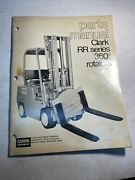 Clark Parts Manual Rr Series 360 Rotators Manual Forklift Lift Truck