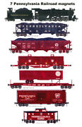 Pennsylvania Railroad L1s, Train And Gallitzin Caboose 7 Magnets By Andy Fletcher