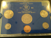 Sweden 1984 6-coin Mint Set-special English Version Hard Plastic Case-only 4217
