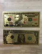 Gold Certificate Banknote Pure 24k Gold - 10 1 Mint