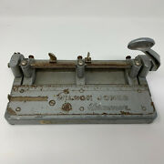 Vintage Wilson Jones Hummer 3 Hole Paper Punch 314 Made In Usa Heavy Duty