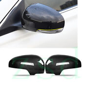 2x Car Left Right Reaview Mirror Cover Abs Carbon Fiber For Toyota Prius 2010-12