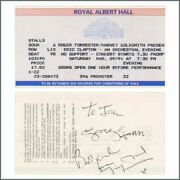 George Harrison And Jimmy Nail 1991 Autographed Eric Clapton Ticket Uk