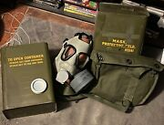 1 Andnbspus Military M9 Gas Mask Chemical Biological Army Marines Vintage M9a1andnbsp